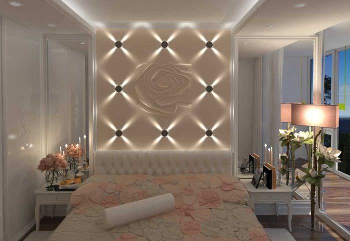 идея красивой led подсветки дизайна
