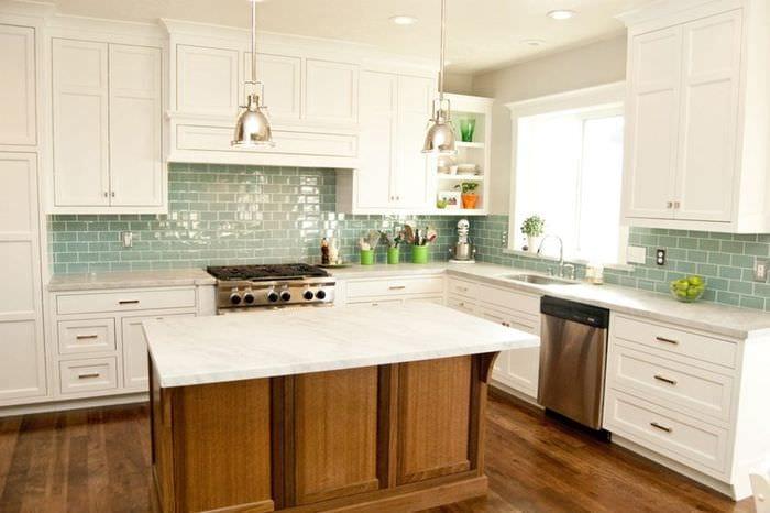 плитка на кухне идеи