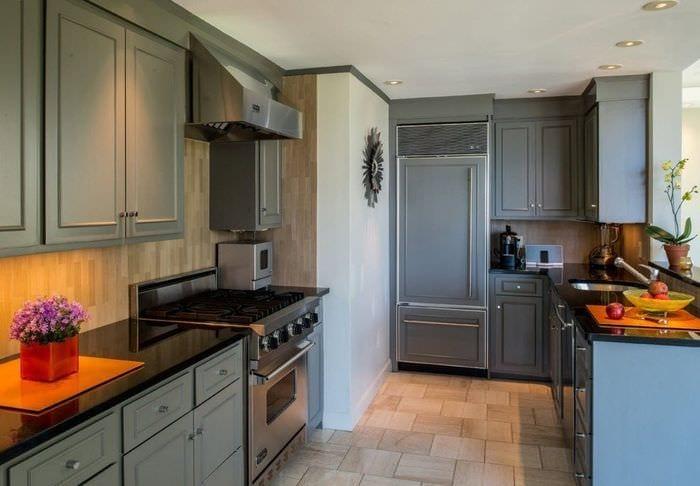 плитка на кухне матовая
