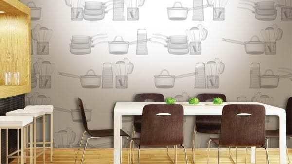 Фотообои для оформления интерьера кухни
