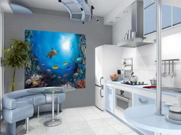 Фотообои с изображением океана для кухни