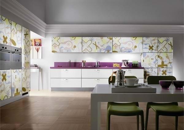 Фотообои с абстрактным рисунком для кухни