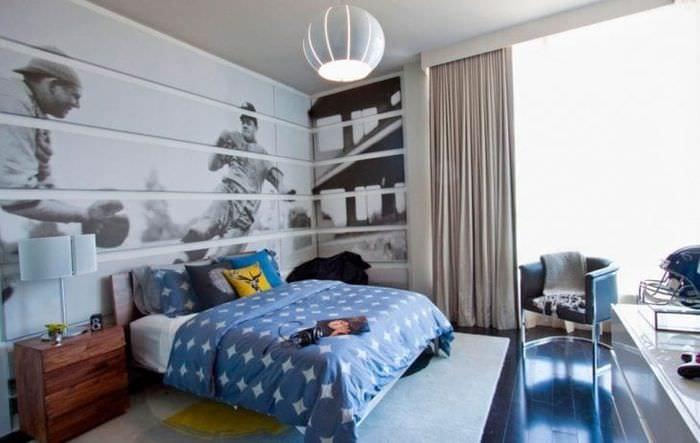 Шторы серо-белого цвета в детскую комнату для мальчика