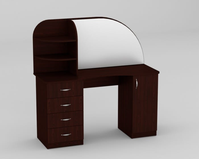 Стилистическое вливание мебели с зеркалом в спальню