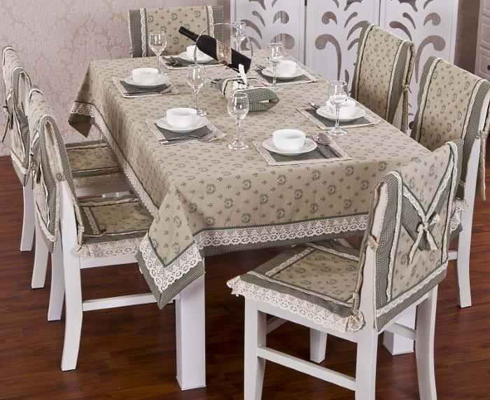 Накидные чехлы с рисунком на стулья для кухни