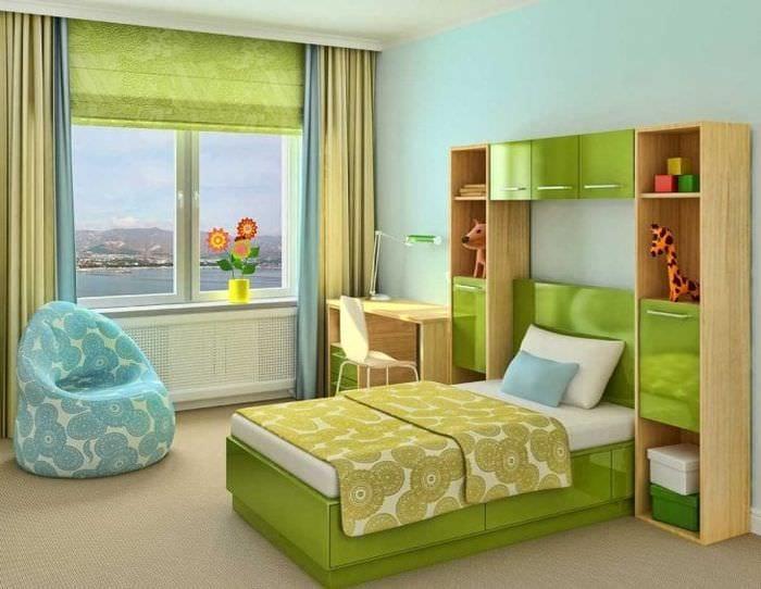 Шторы в современном стиле в детскую комнату для мальчика