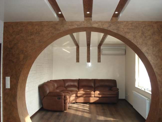 Дизайн арки из гипсокартона фото