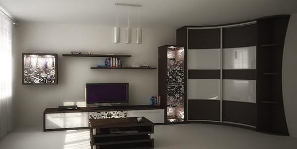 шкафы угловые в зал фото