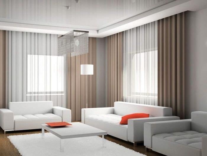 Красивые занавески в зал фото