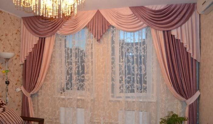 Ламбрекены фото для зала