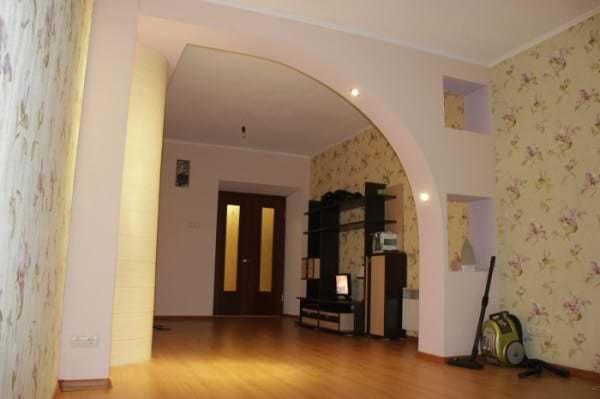 фото арки из гипсокартона в зал