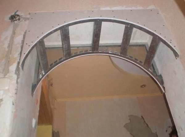 Как сделать перегородку арку из гипсокартона