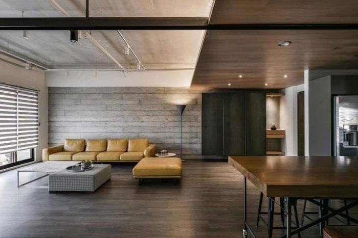 Современная гостиная в стиле лофт варианты оформления