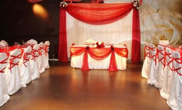 Украсить зал своими руками на свадьбу