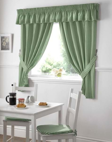 Gingham-kitchen-curtains-green