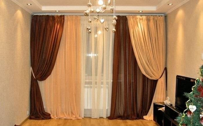 Дизайн тюлей и штор для зала