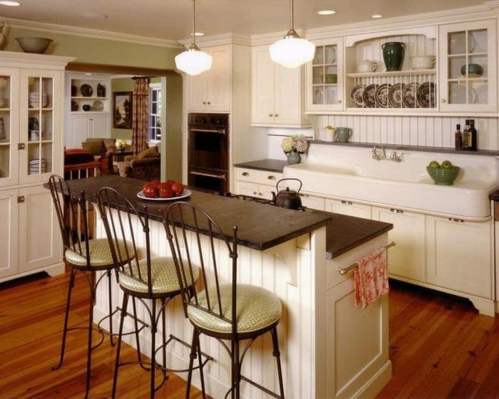 Кухни дизайн дачного дома