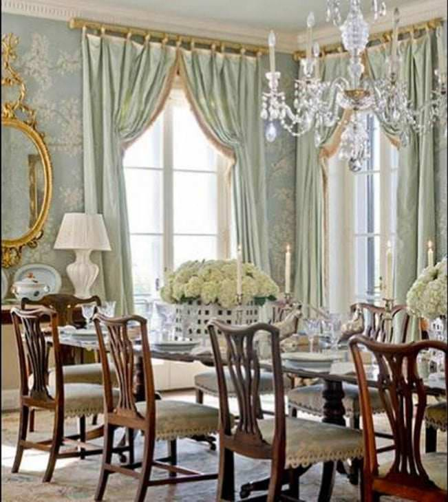 Beautiful french door curtains dining room ideas