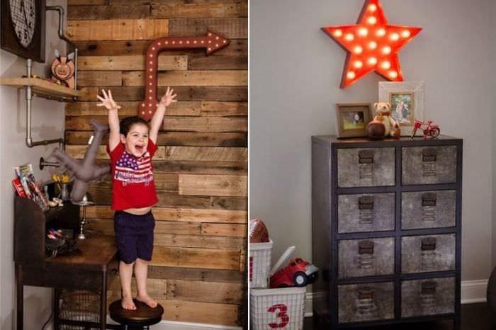 Детская мебель для спальни в стиле лофт