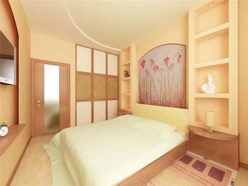 Варианты спальни и гостиной в одном помещении