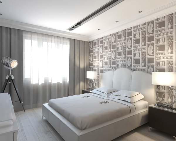 Дизайн спальня 18 кв м фото