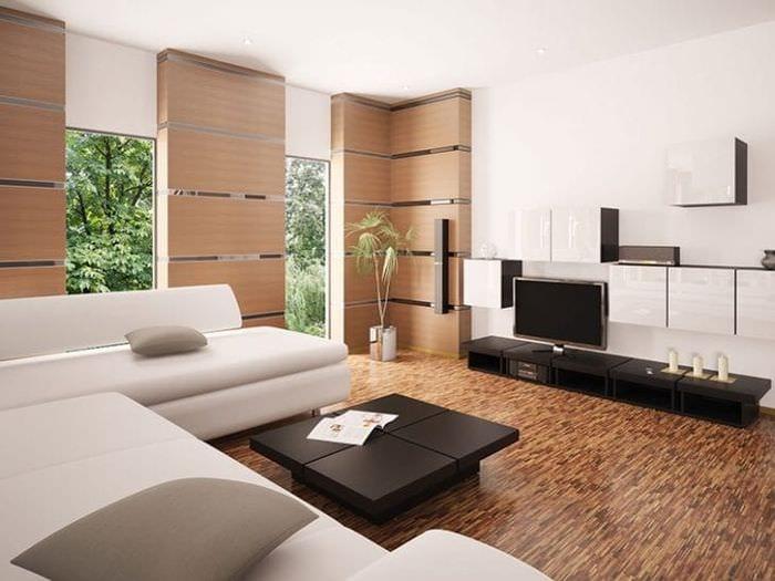 Интерьер и дизайн гостиной в стиле минимализм