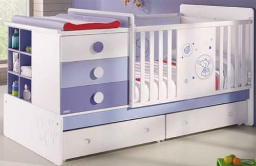 Детская кровать трансформер с комодом и пеленальным столиком c фото примерами