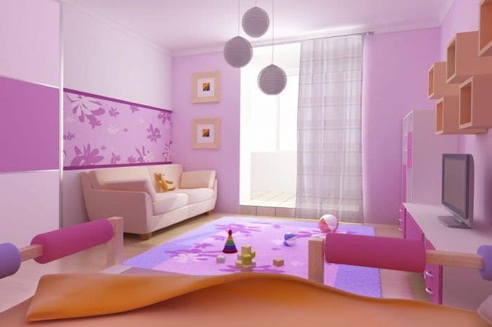Дизайн обоев теплых тонов для детской комнаты для активного и современного мальчика