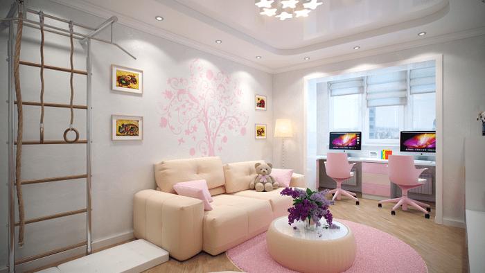 Дизайн обоев для детской комнаты для маленькой девочки
