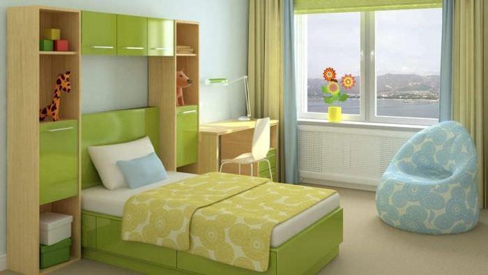Дизайн обоев в светлых тонах для детской комнаты для девочек