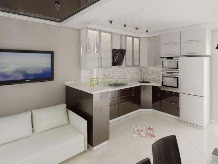 Дизайн кухня гостиная 11 кв.м