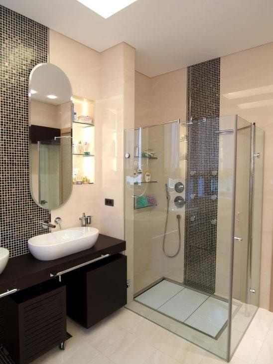 Фото оригинального стиля душевой кабины для ванной комнаты