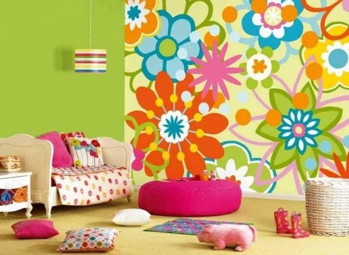Правильные фотообои для стильного декора детской комнаты