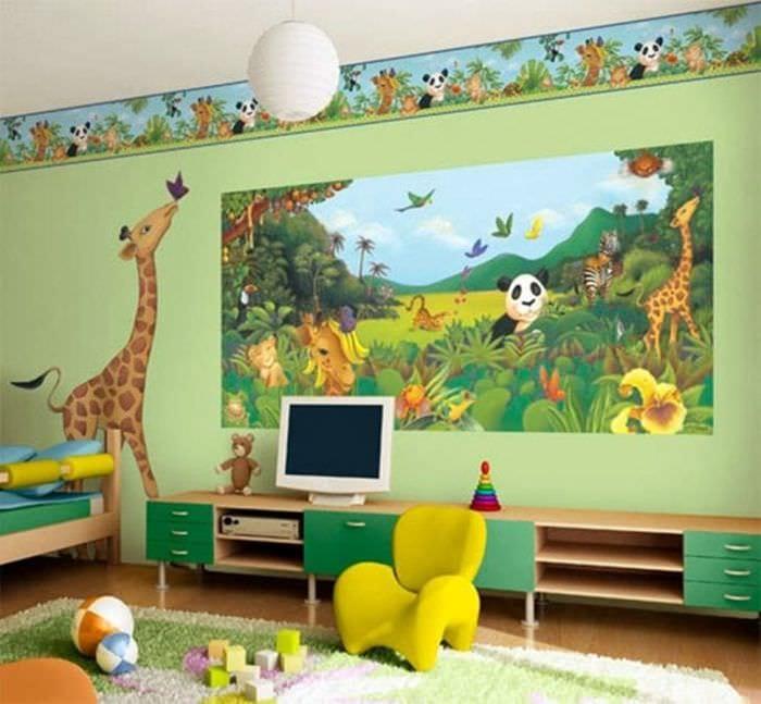 Фотообои в детскую комнату с любимыми сказочными персонажами