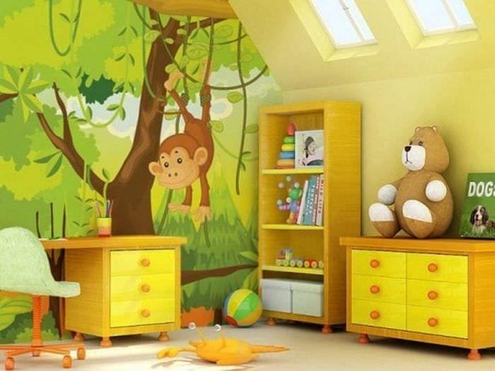 Фотообои с героями мультфильмов в детскую комнату