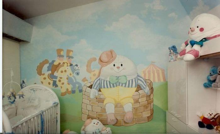 Фотообои в детскую комнату для новорожденных