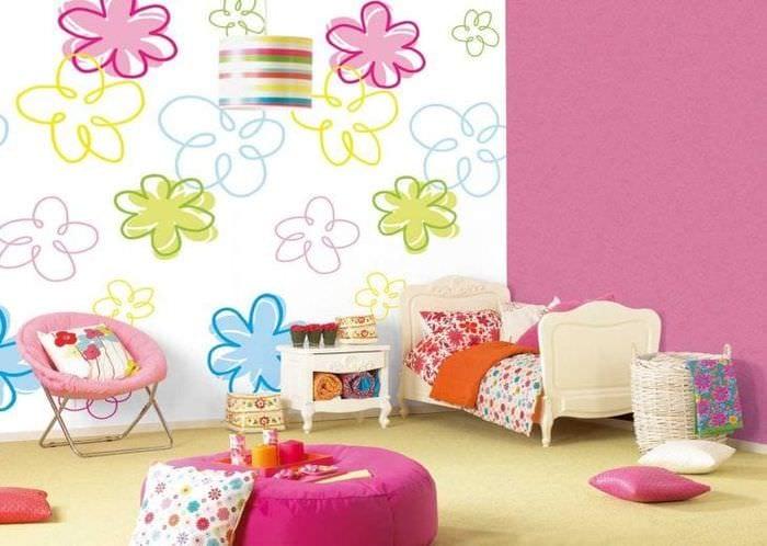 Современные яркие обои для детской комнаты