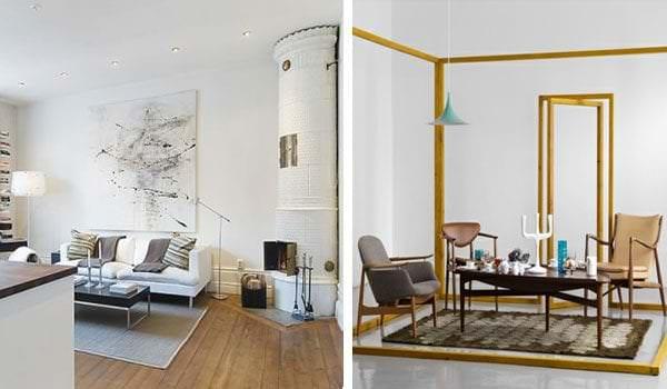 комната в жилом доме под скандинавский вариант дизайна