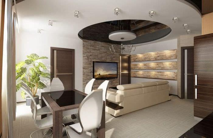 Комната 3 в 1 с оригинальной диодной подсветкой для каждой рабочей зоны