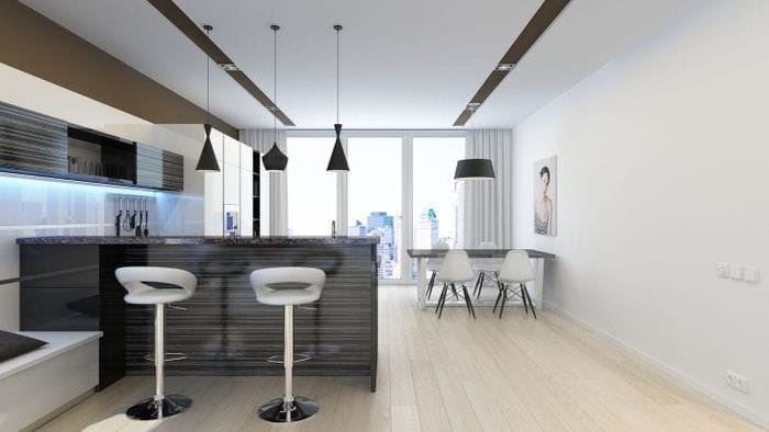 Строгий декор гостиной в стиле минимализм