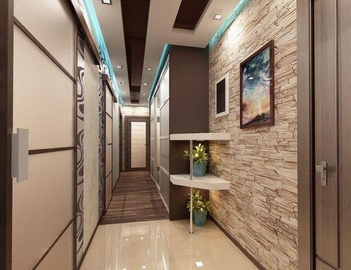 в коридоре обои фото