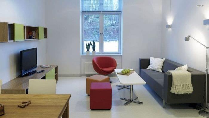 Идея современной гостиной в стиле минимализм