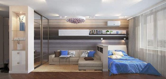 гостиная-спальня в одной комнате 18 кв м фото
