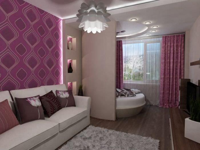 гостиная спальня в одной комнате 18 кв м фото