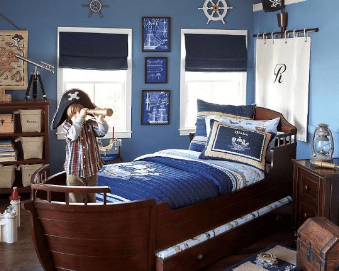 Особенности декора детской комнаты в морском стиле для современного мальчика