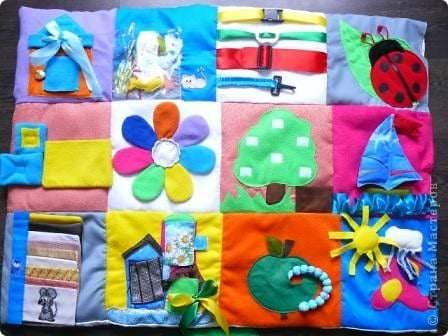 Развивающий коврик из составных модулей для маленьких детей