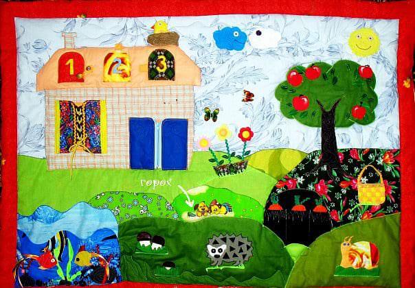 Идеи развивающего коврика своими руками
