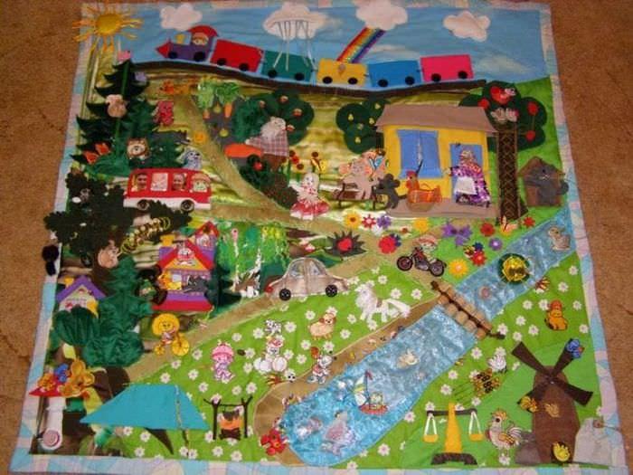 Фото оригинального развивающего коврика для детей