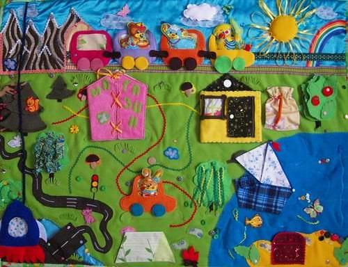 Развивающий коврик для ребенка своими руками