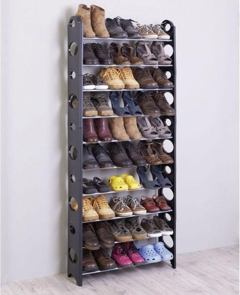 этажерка для обуви из металла в дом